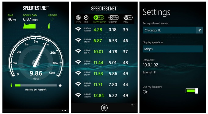 SpeedTest Screens (1)