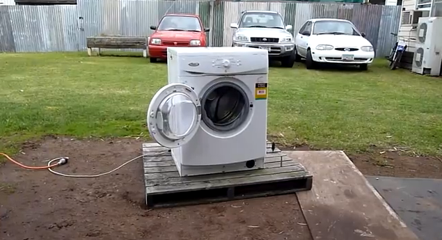 Whirlpool Front Load Washer Total Carnage   Runaway Drum Assembly   YouTube