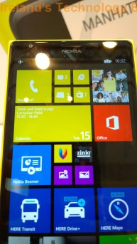 The Lumia 1520 - New tile arrangment